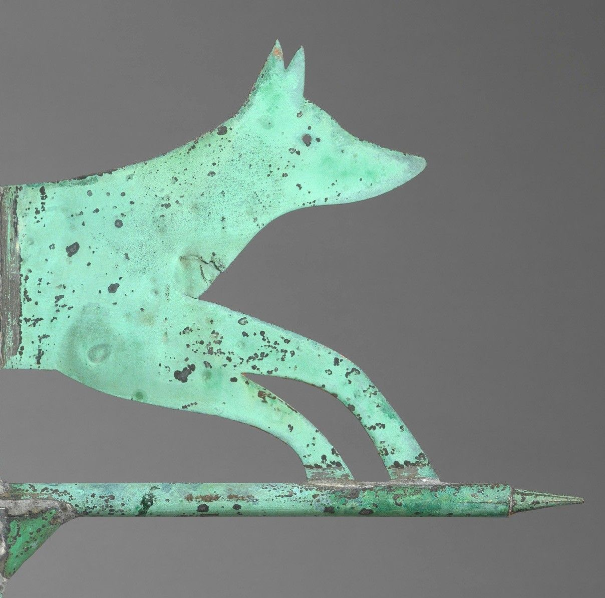 Silhouette Running Fox Form Weathervane