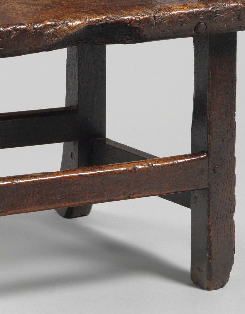 Imposing Enclosed Primitive Boarded Windsor Chair
