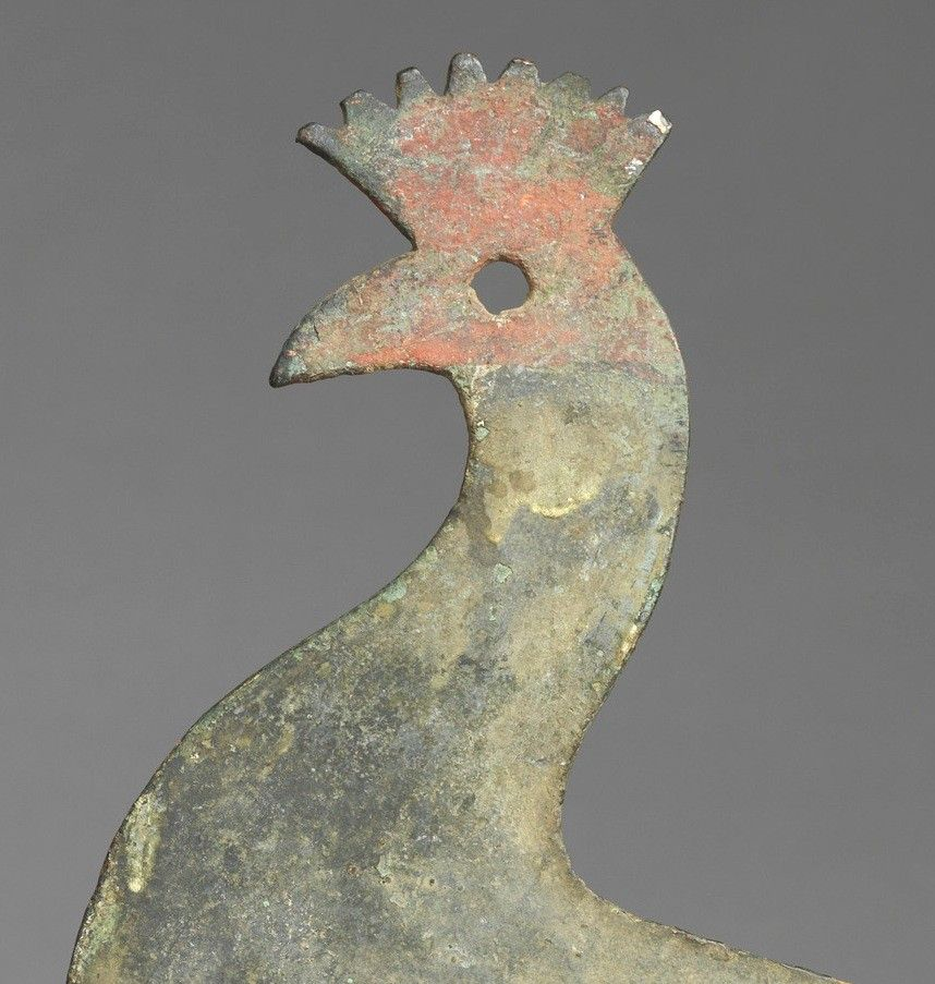 Early Silhouette Cockerel Form Weathervane