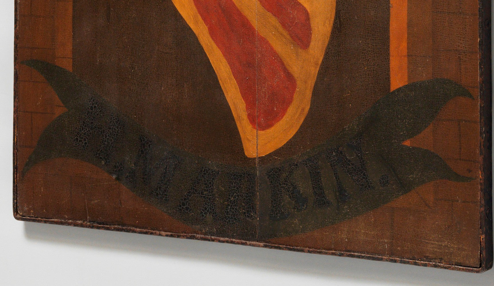 Original Double-Sided Butcher's Trade Sign For 'H.M. ARKIN'