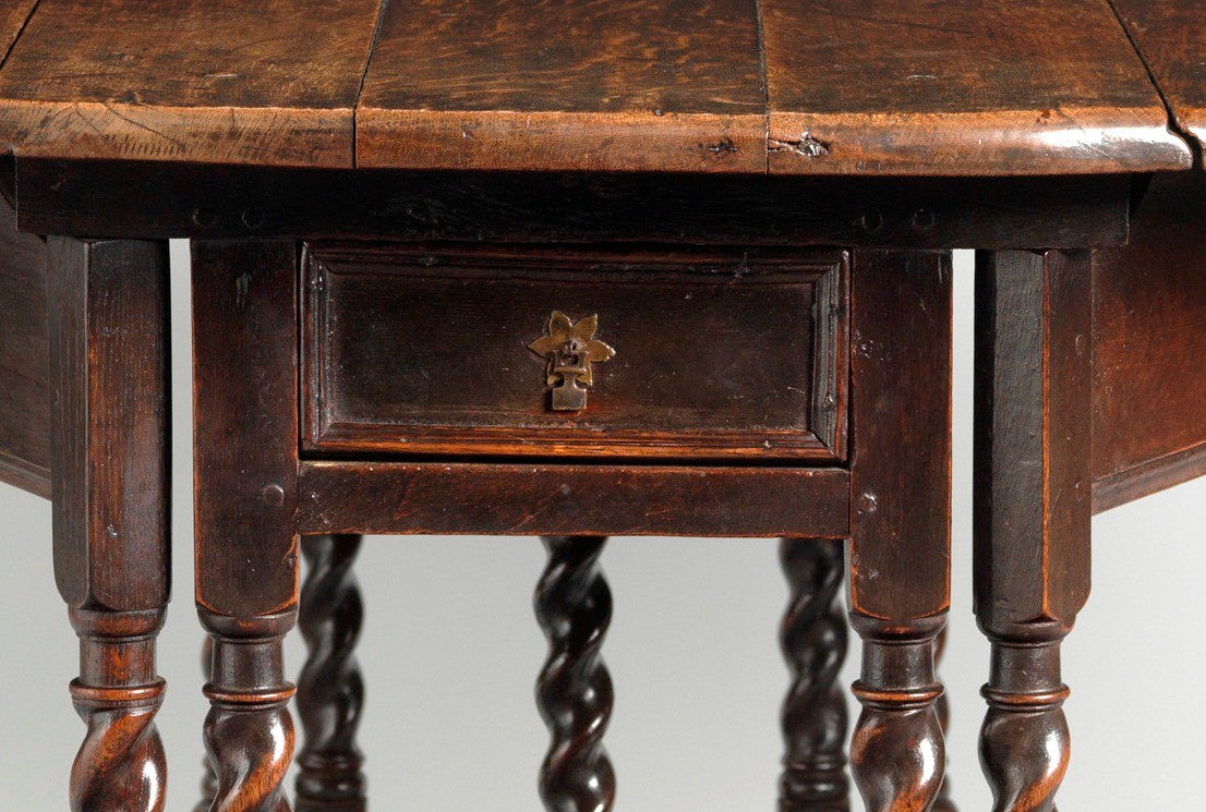 Fine and Remarkable Charles II Period  Oval Dining Table