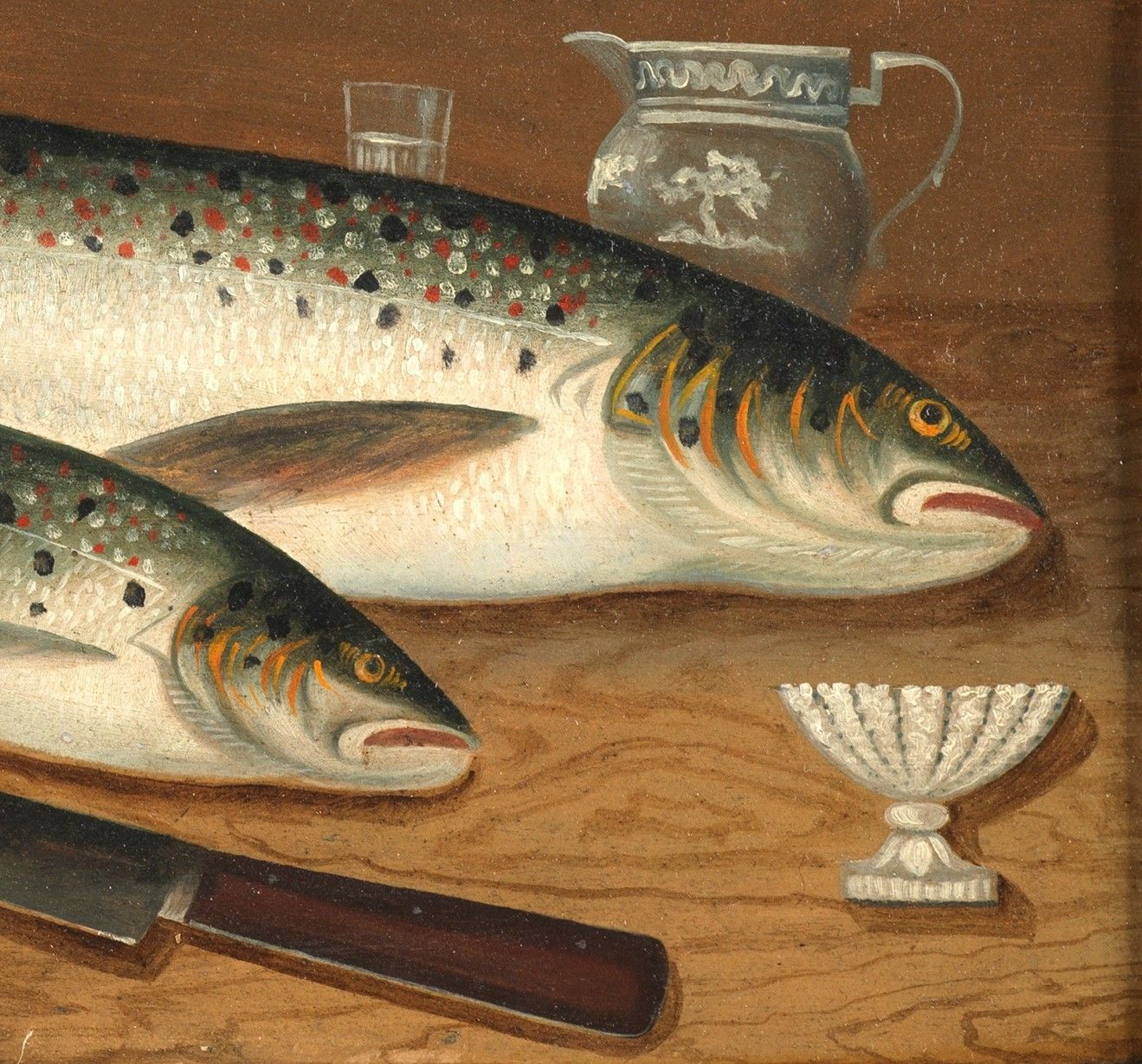 """Salmon And Trout on the Supper Table"""