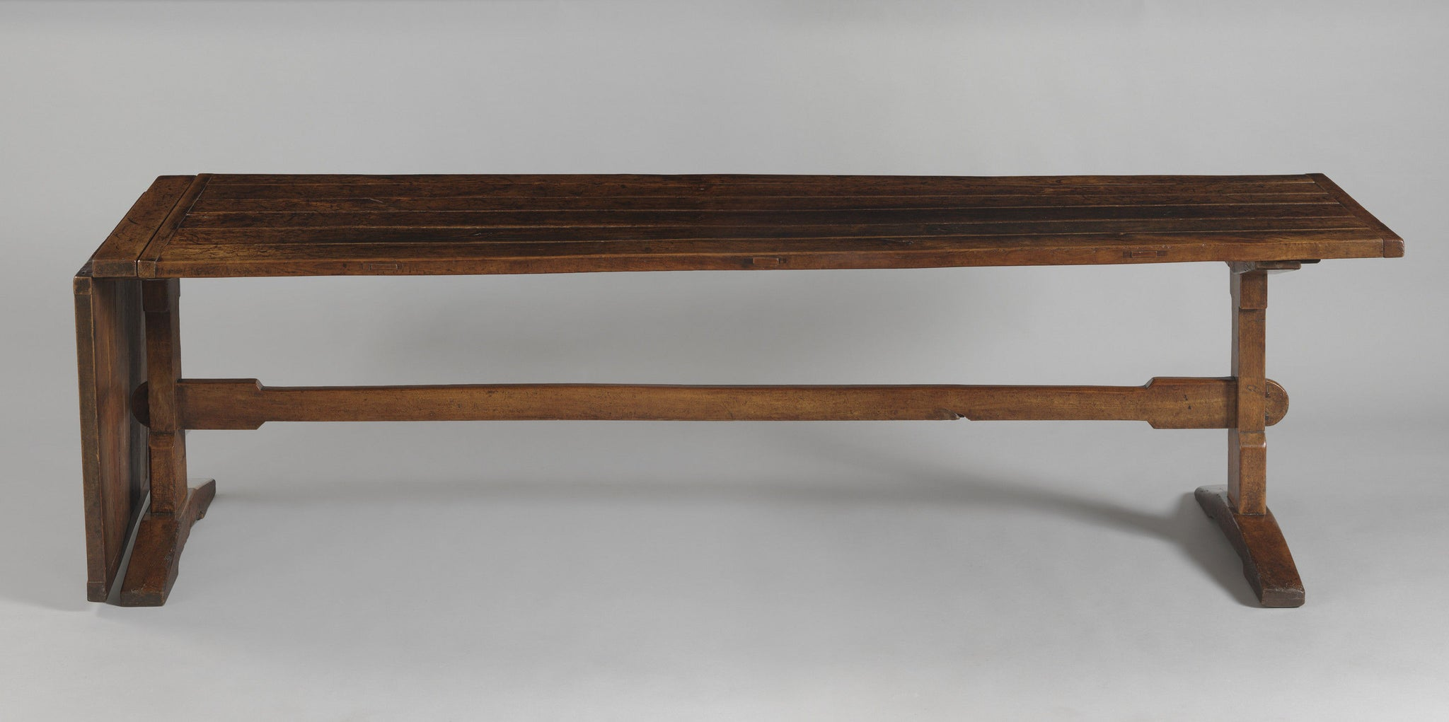 Fine And Rare Trestle Form Dining Table