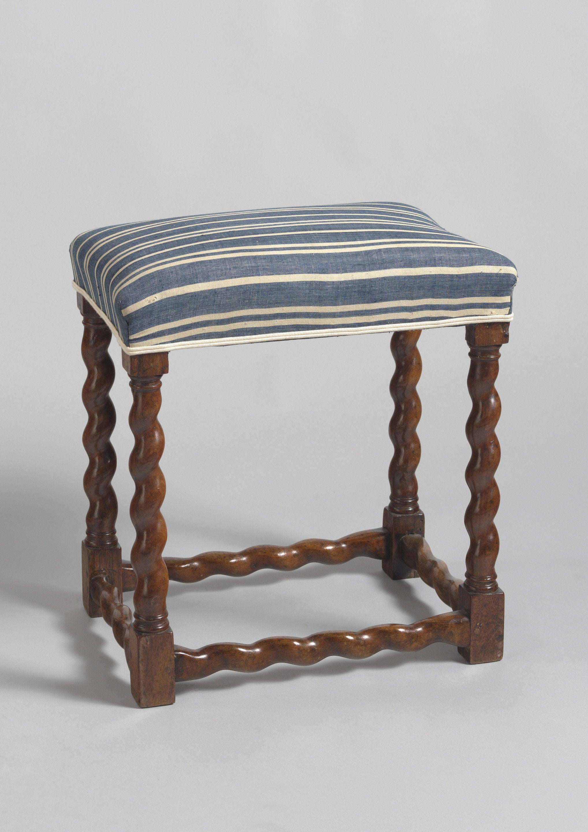 William and Mary Period Spiral Turned Stool