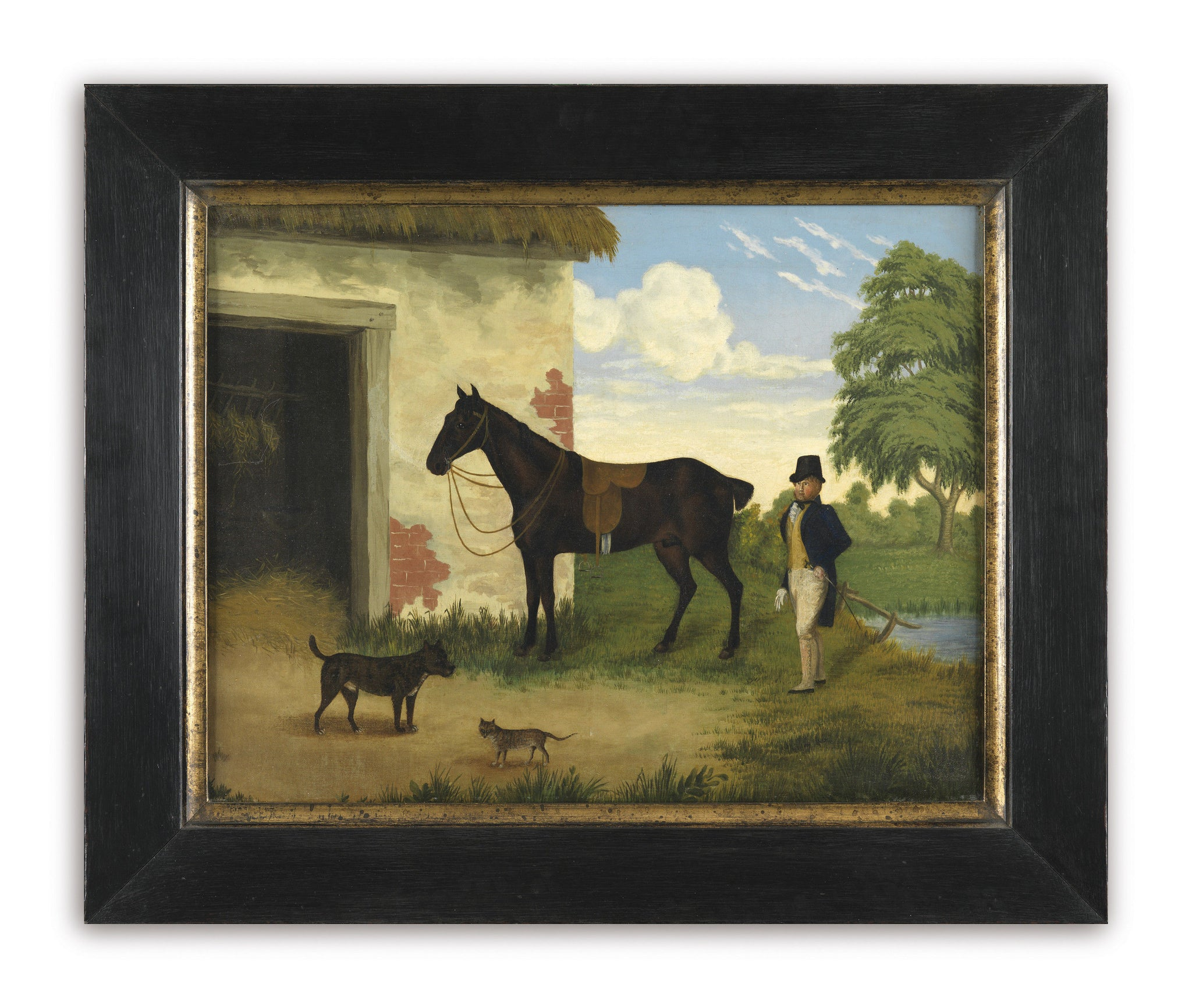 """A Gentleman with his Horse and Pets"""