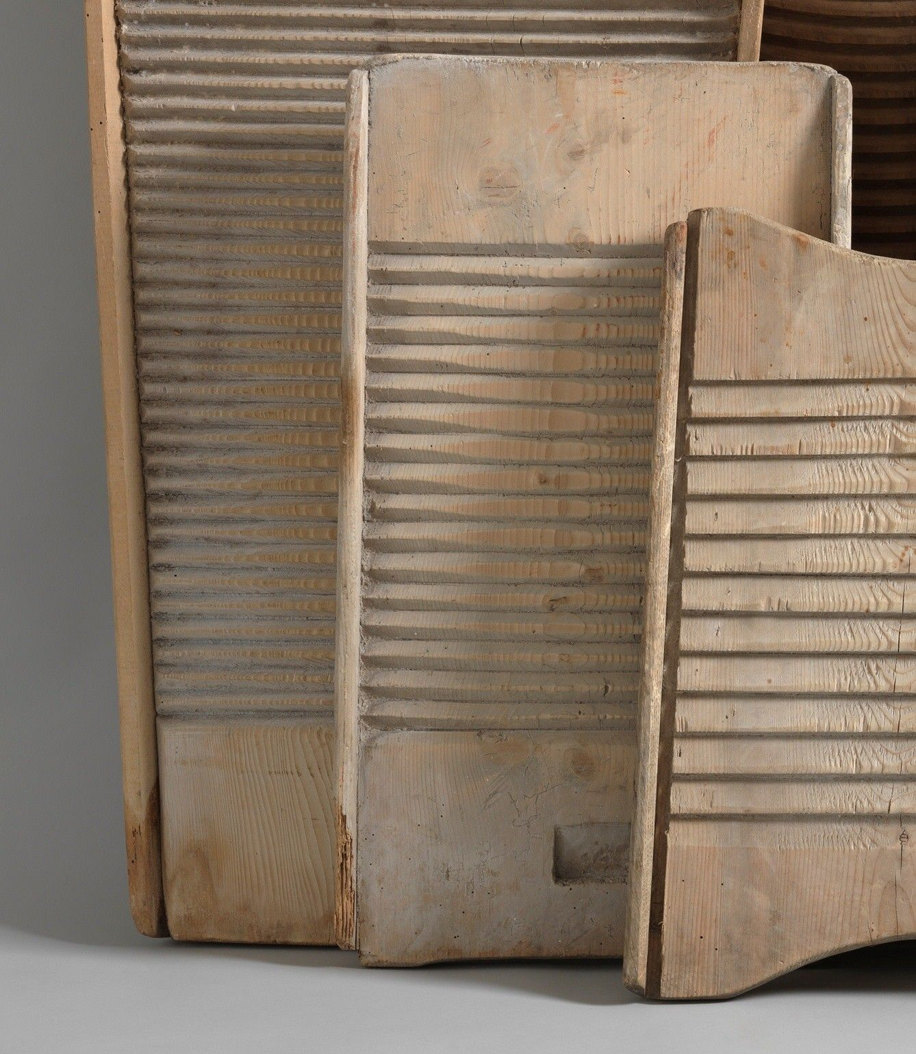 Unusual Collection Of Graphically Sculptural Washboards