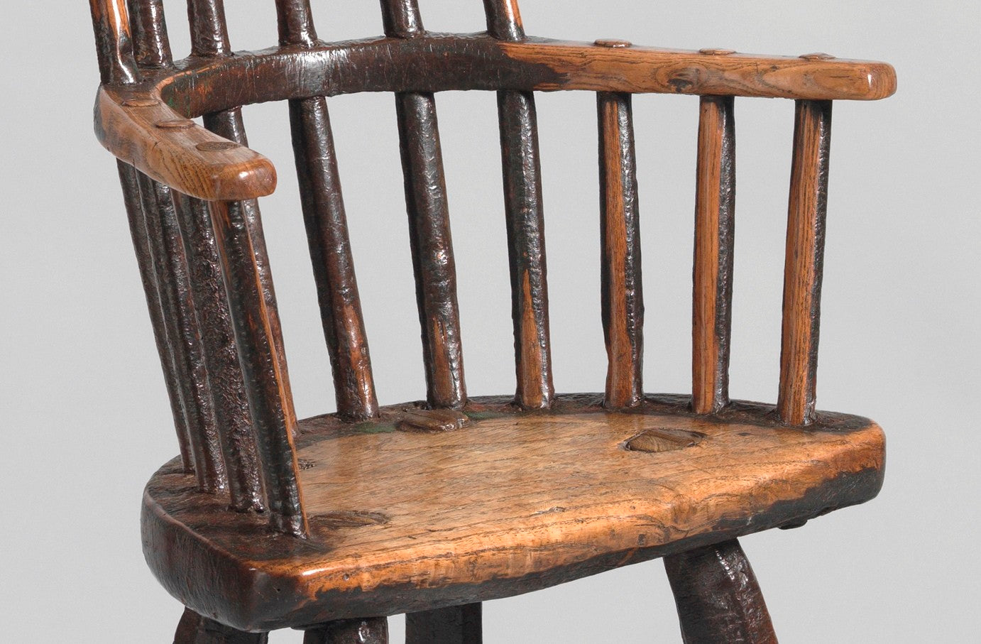 "Exceptional Early  ""Lobster  Pot"" Form Child's Chair"