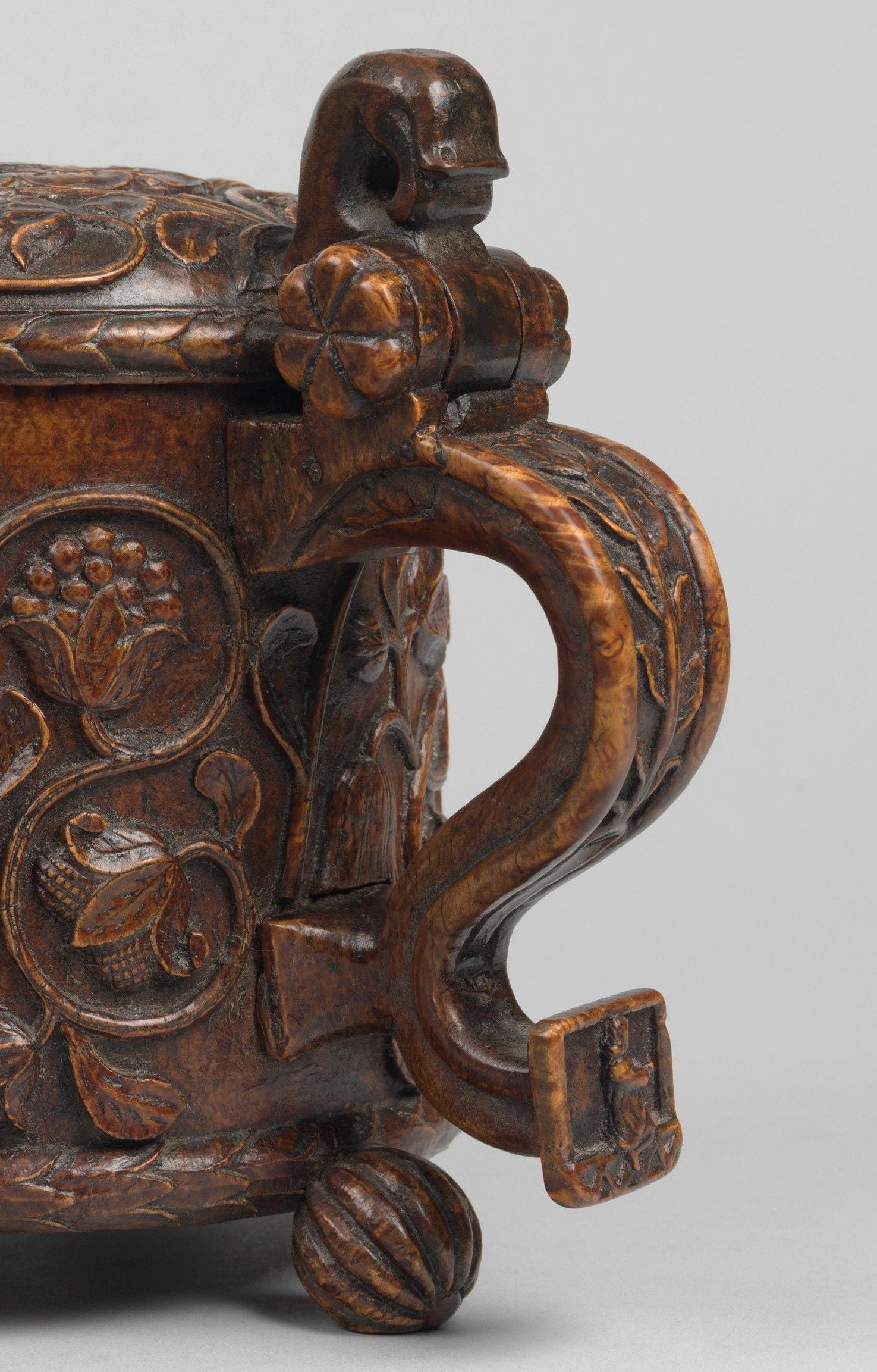 Fine And Important Carved Ceremonial Peg Tankard