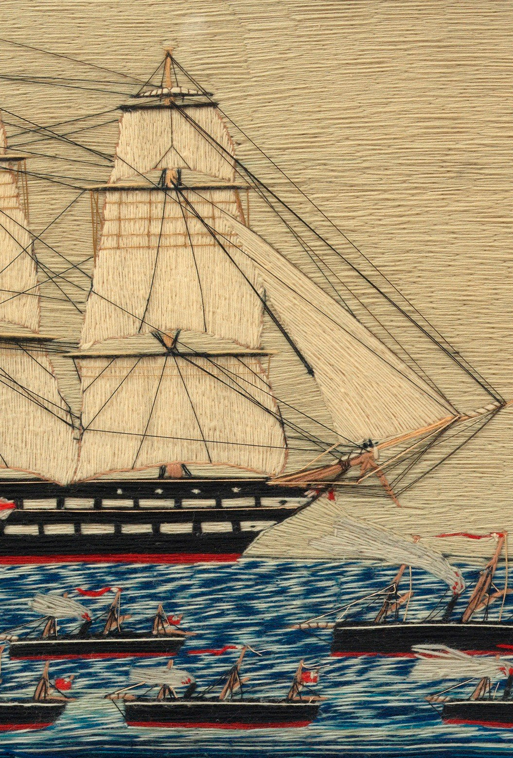Early Naive Sailor Work Ship Picture