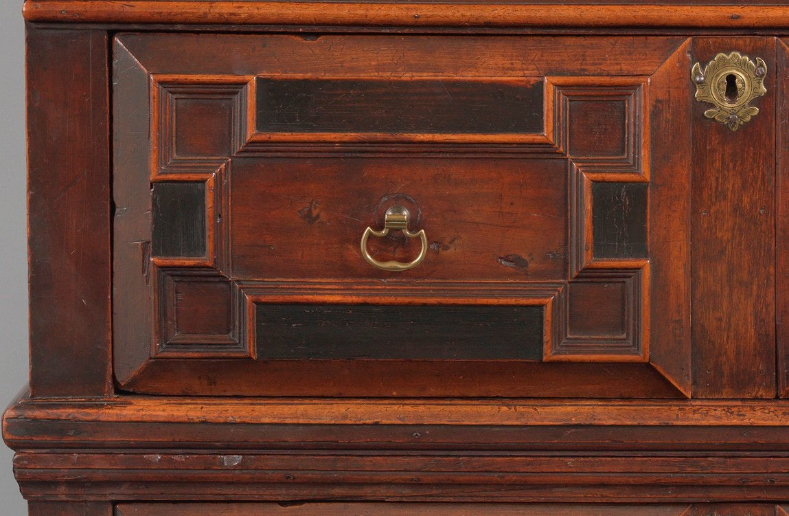 Rare William and Mary Period Two Part Chest of Drawers