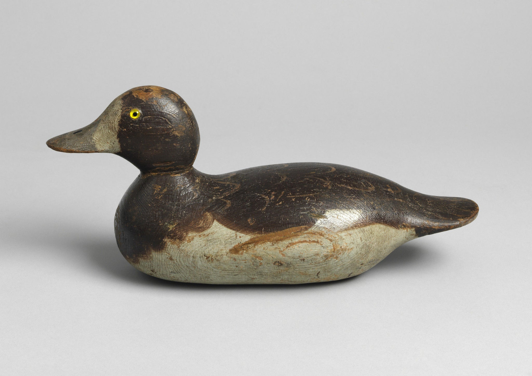 Lovely Waterfowl Decoy with Glass Eyes