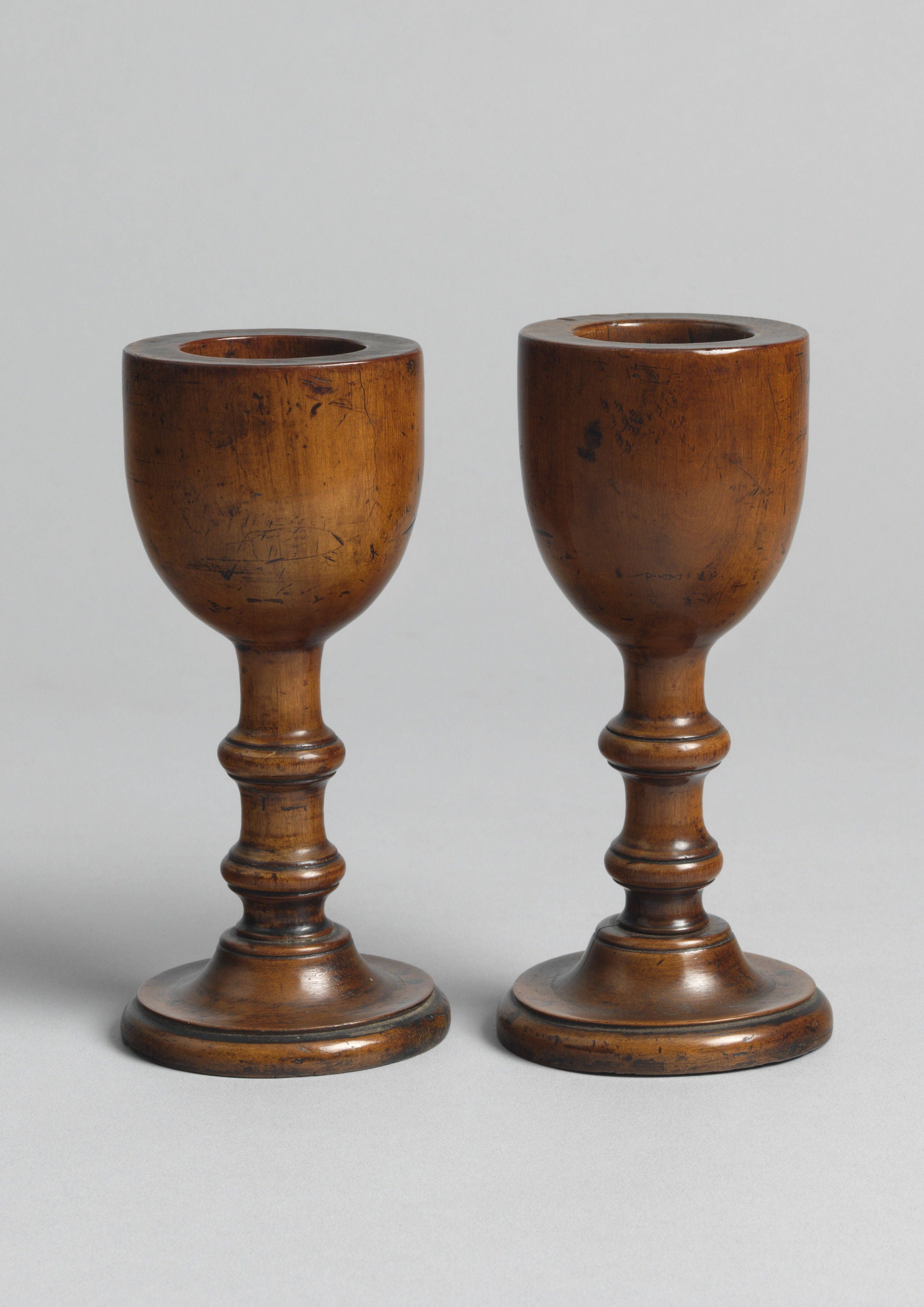 Fine Pair of Early Turned Vessels