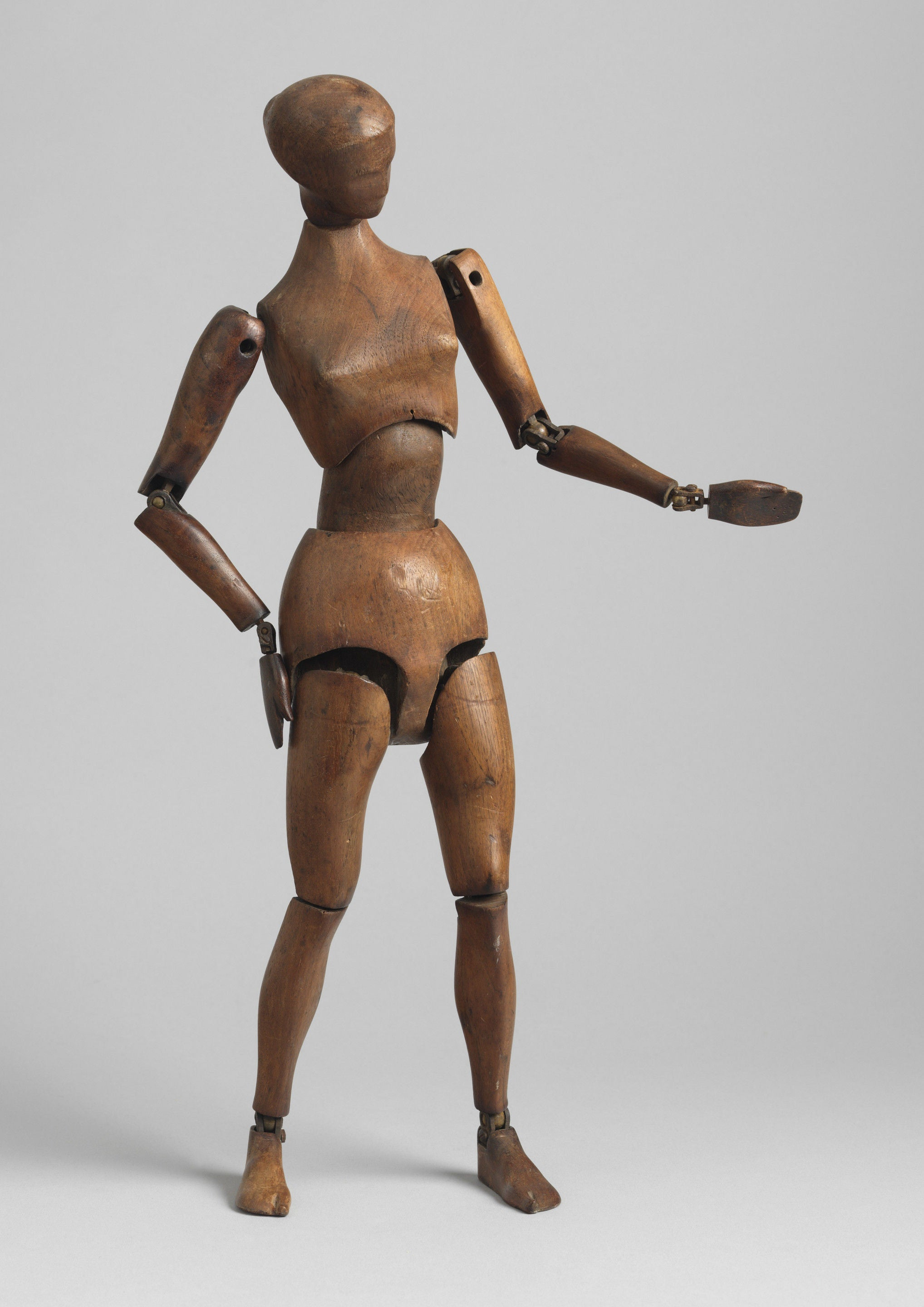 Unusual Large Modernist Artist's Female Lay Figure