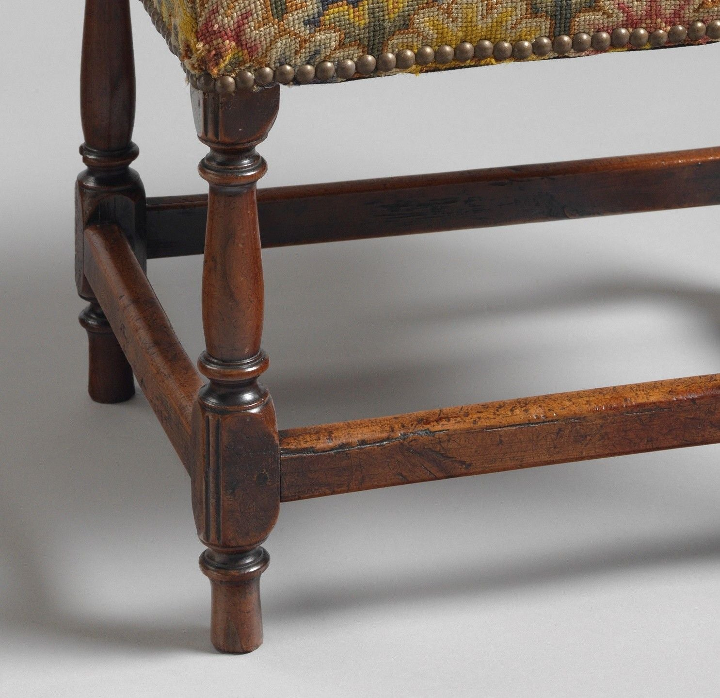 Fine and Rare William and Mary Stool