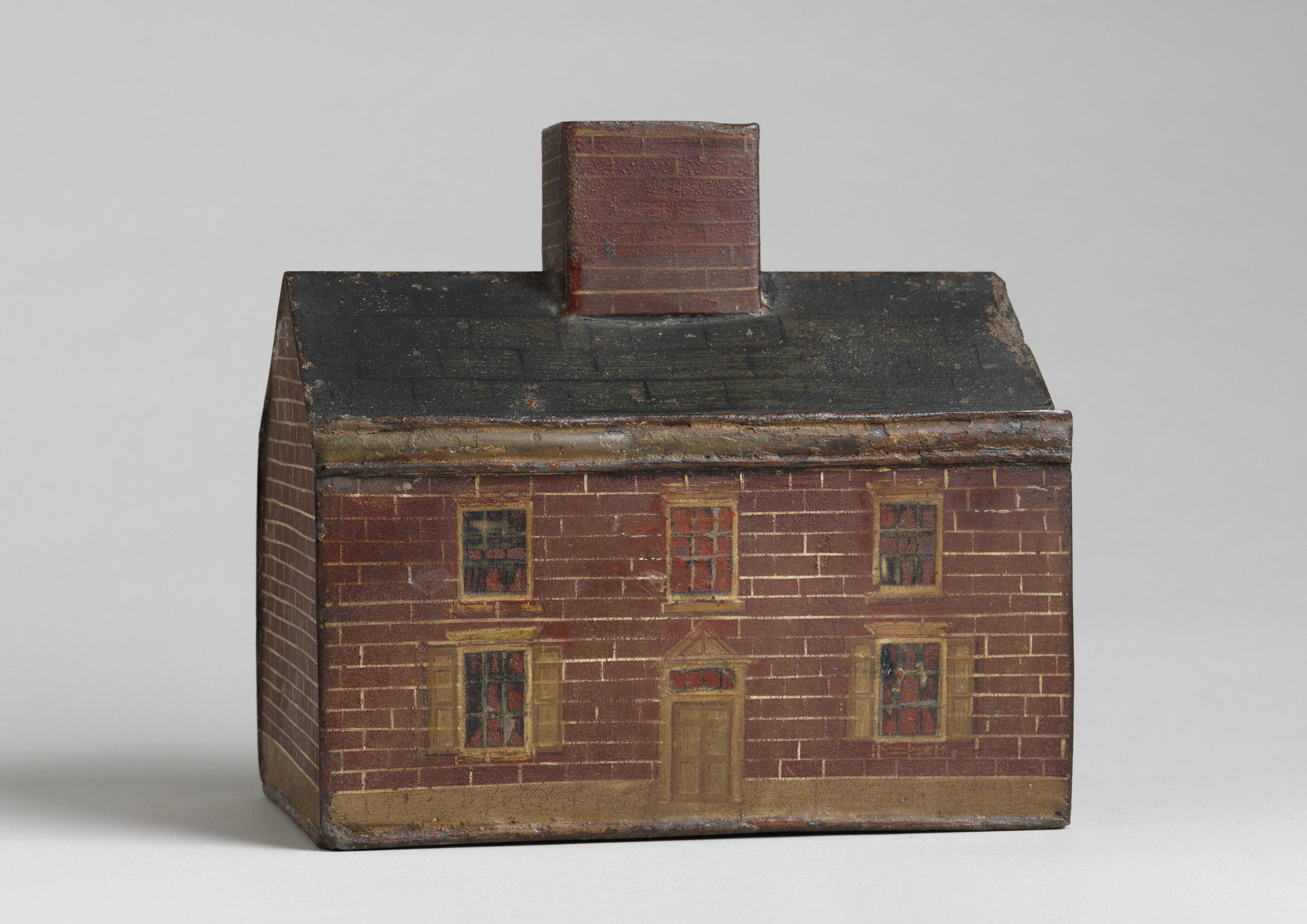 Rare Folk Art House Money Box