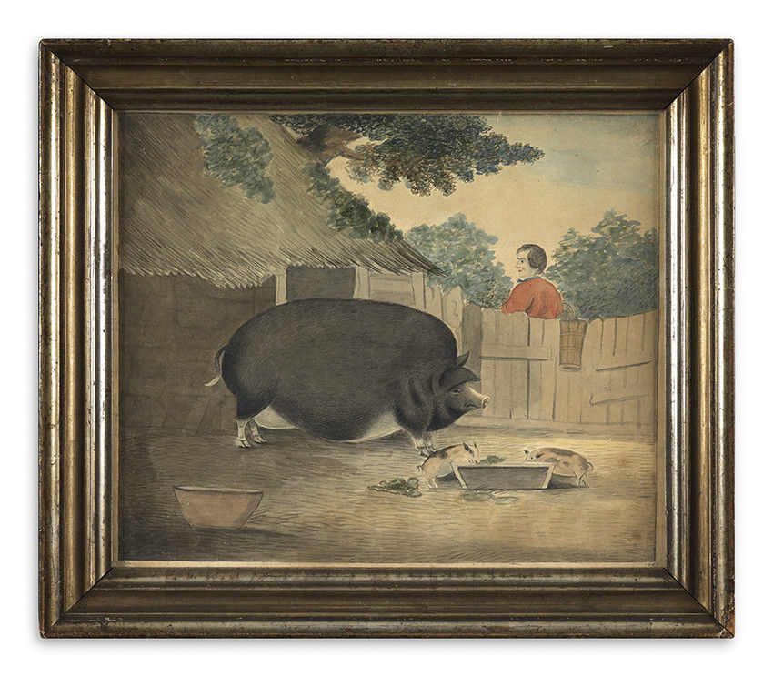 Prize Sow and Piglets'