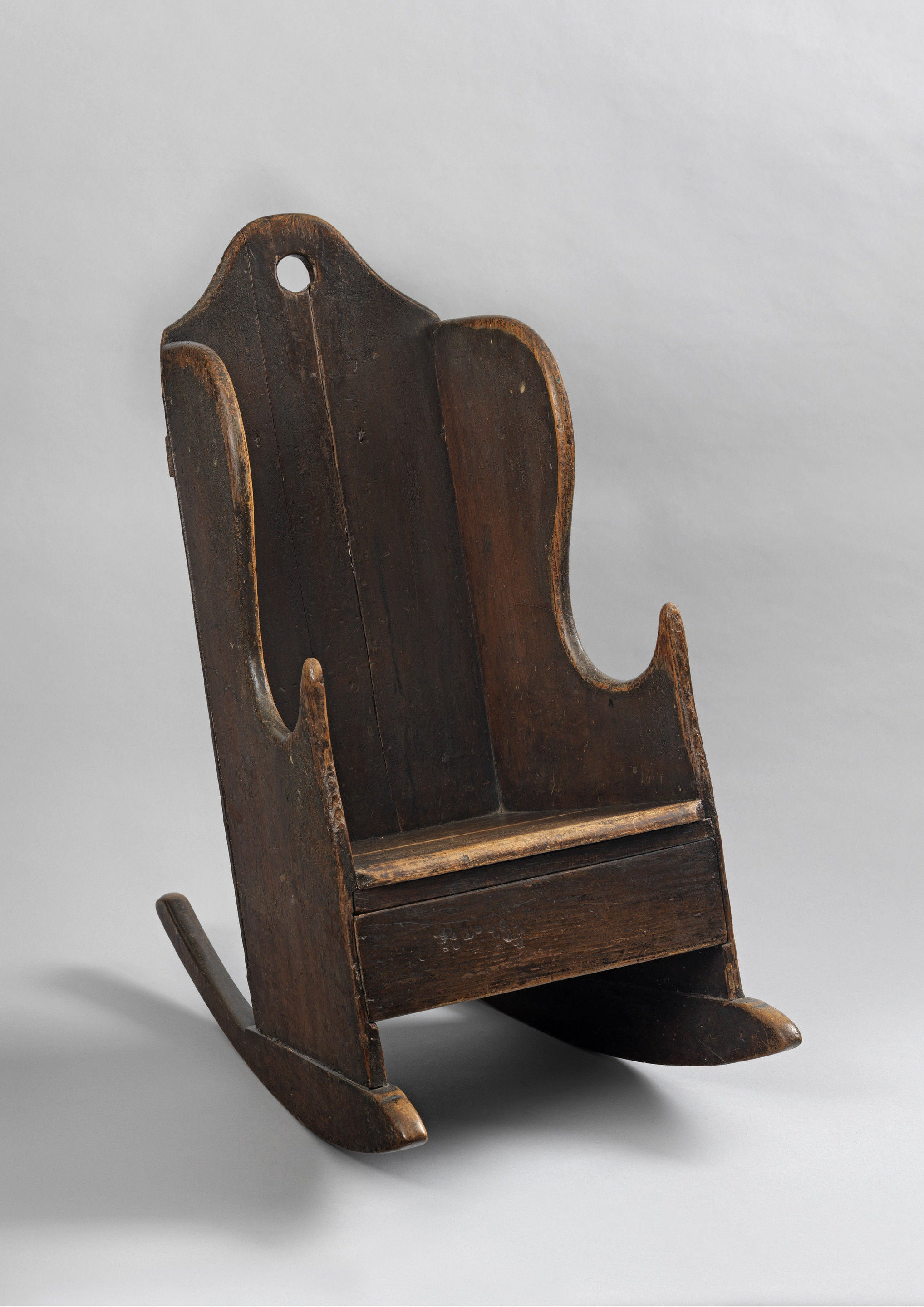 Unusual Provincial Georgian Child's Rocking Chair