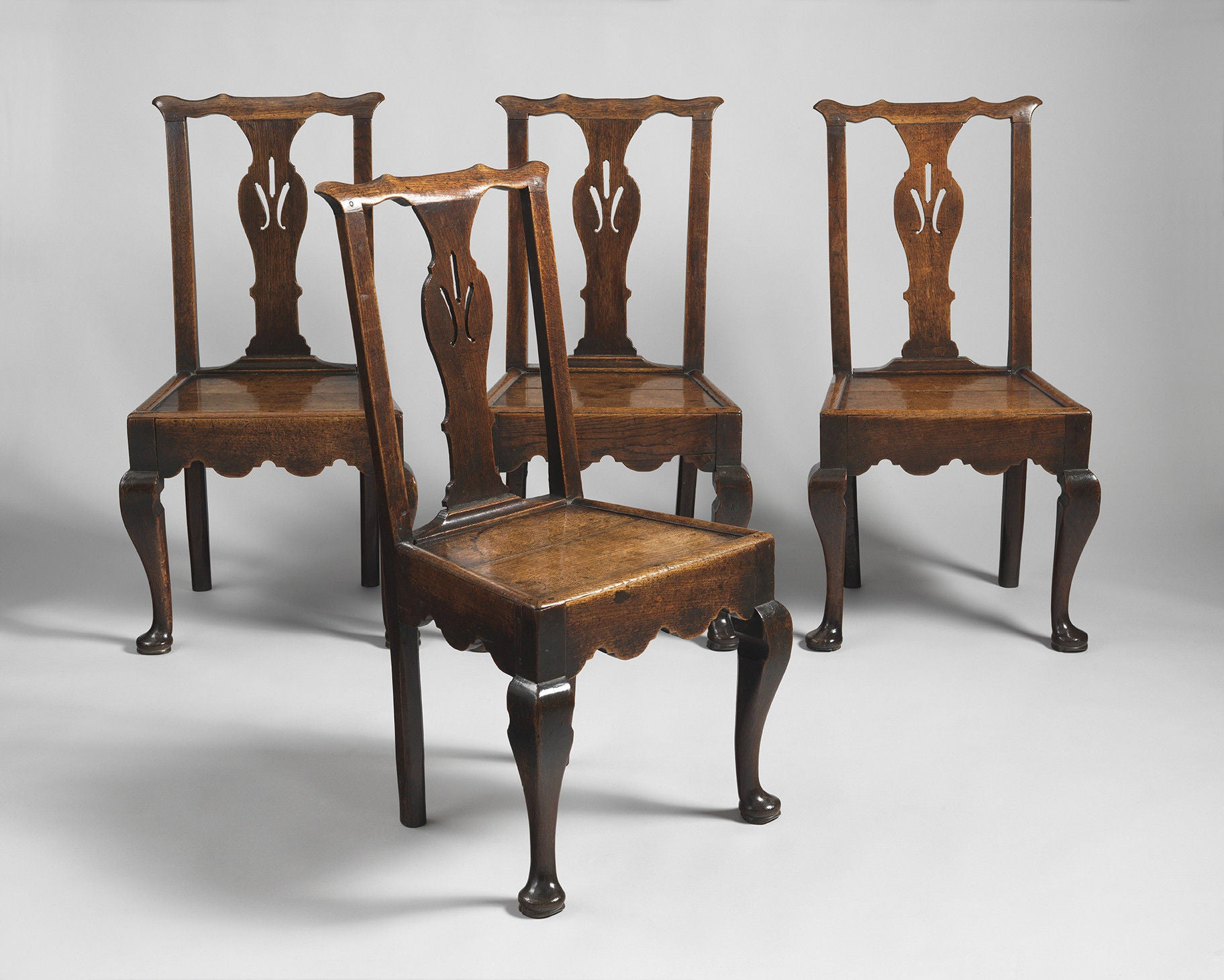 An Original Set of Four Cabriole Leg Chairs