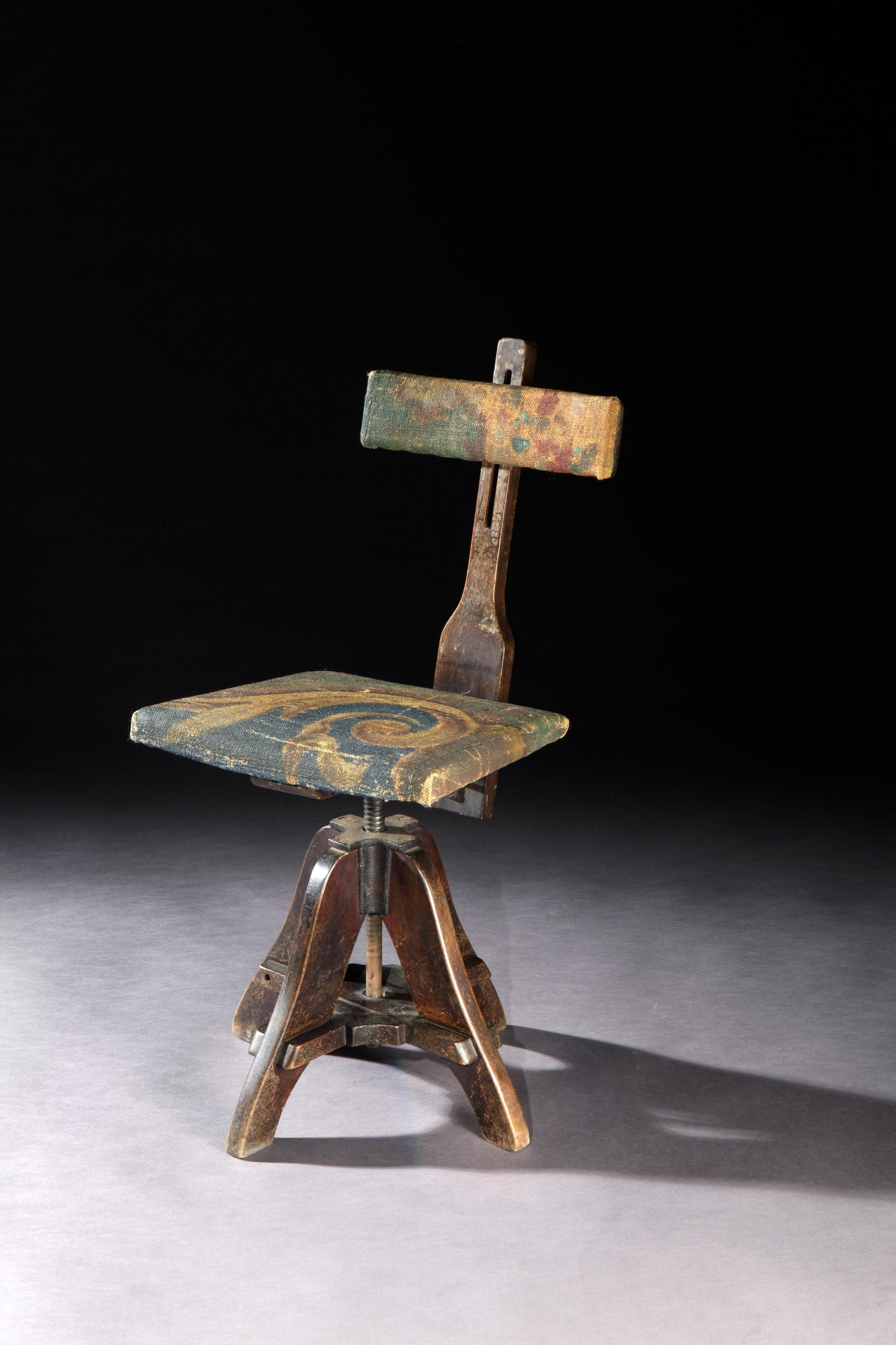 Unusual Revolving Artist's Chair