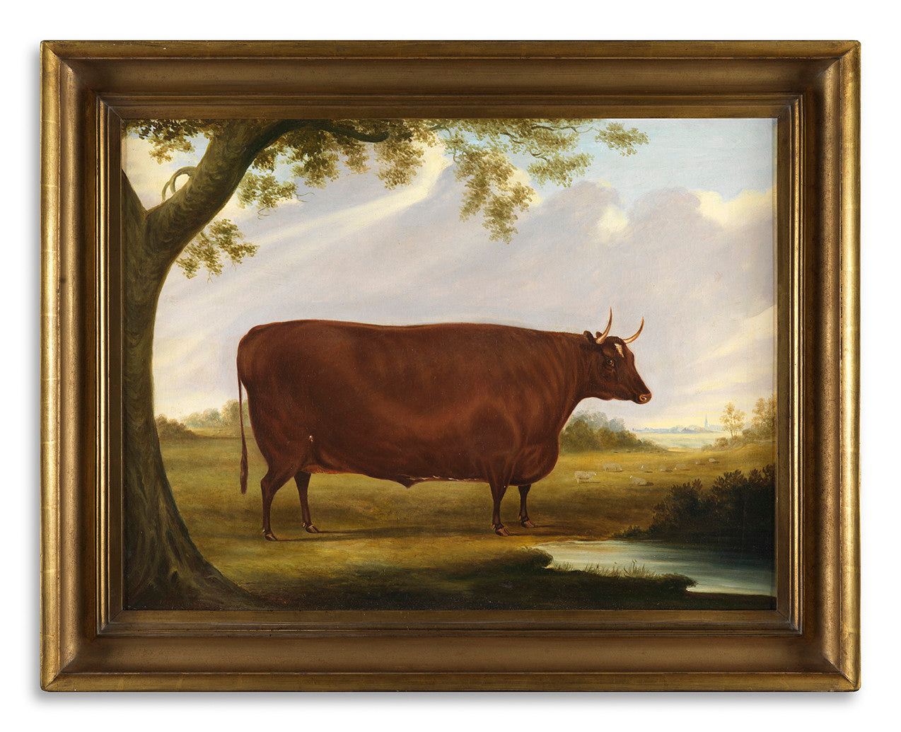 Fine English Naive School Livestock Painting