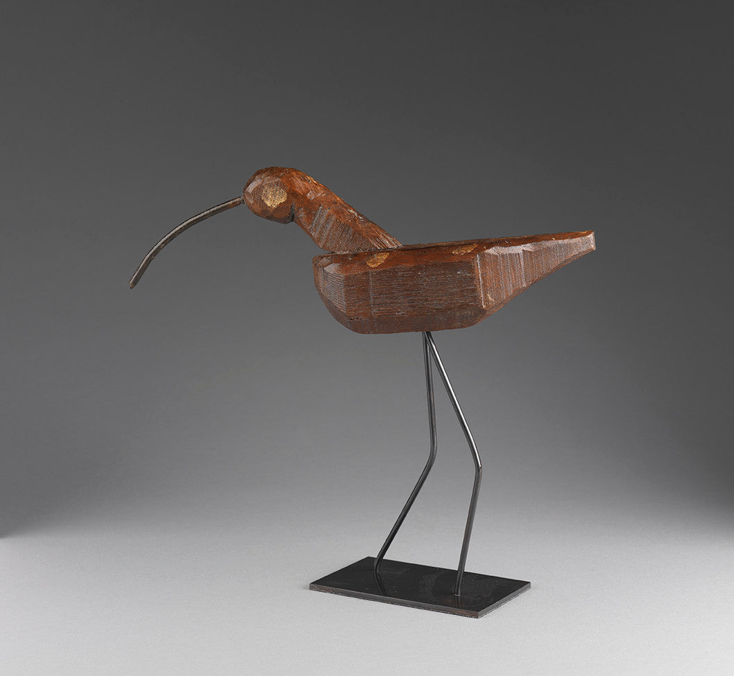 Unusually Primitive Folk Art Curlew Decoy