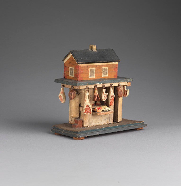 Extraordinary Miniature Butcher's Shop Model