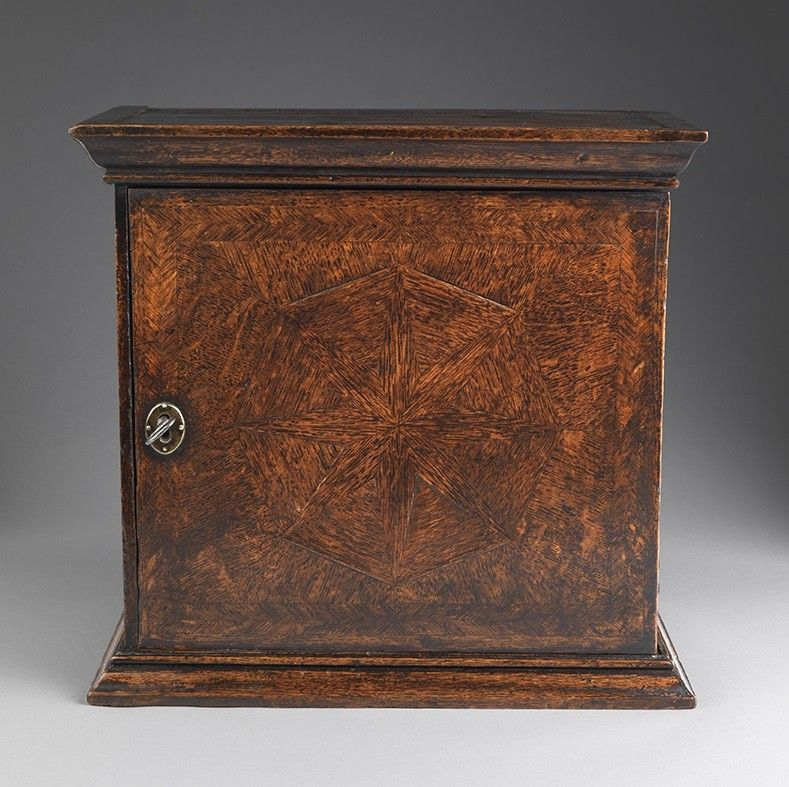 William and Mary Period Parquetry Spice Cupboard