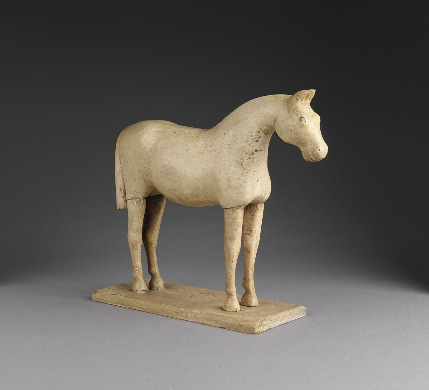 Powerful Folk Art Sculpture of a Standing Horse
