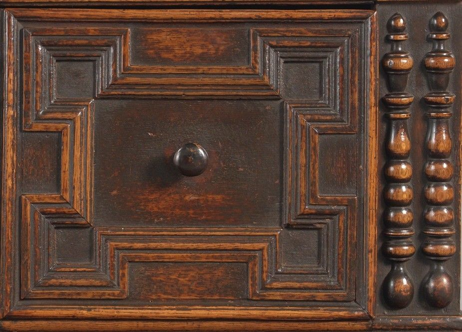 Unusual Early Geometrically Moulded Enclosed Chest