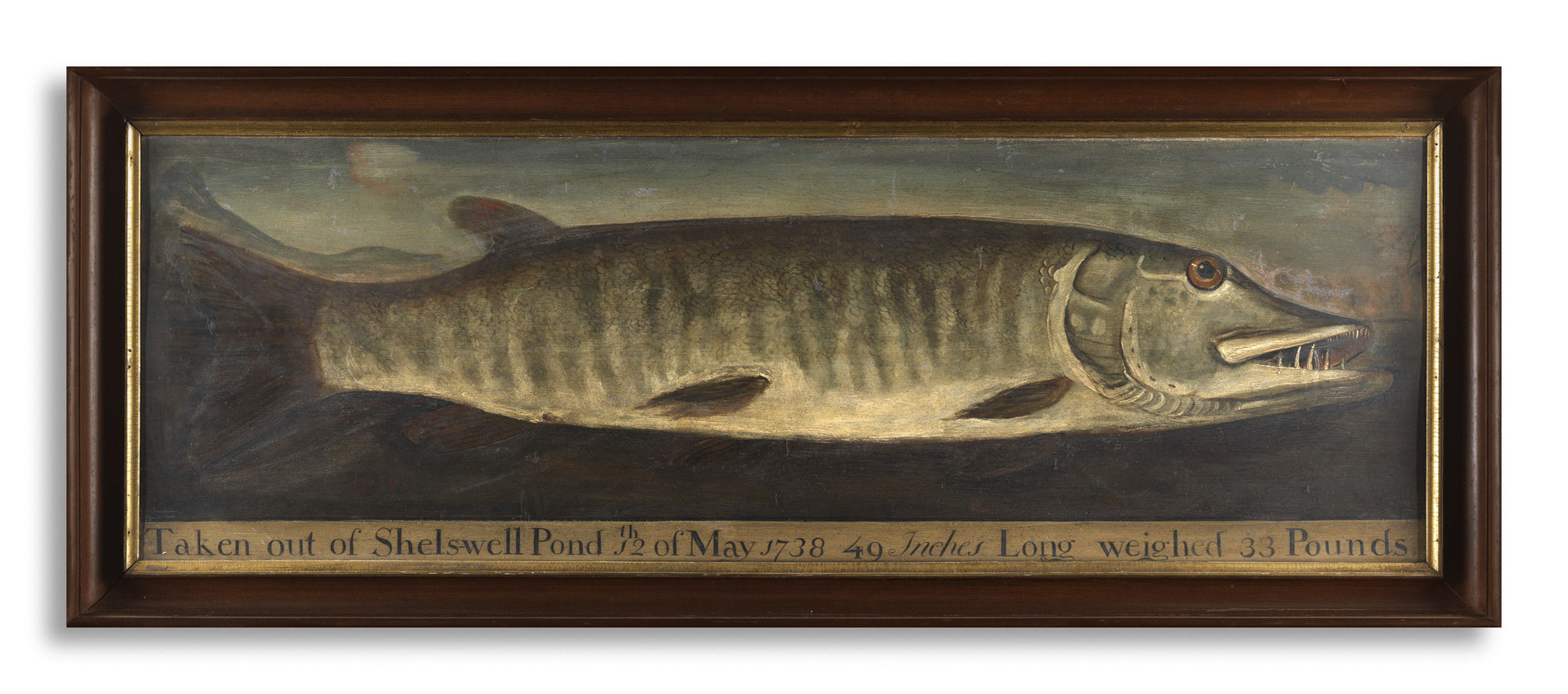 Exceptional Naïve Painting of a Trophy Pike