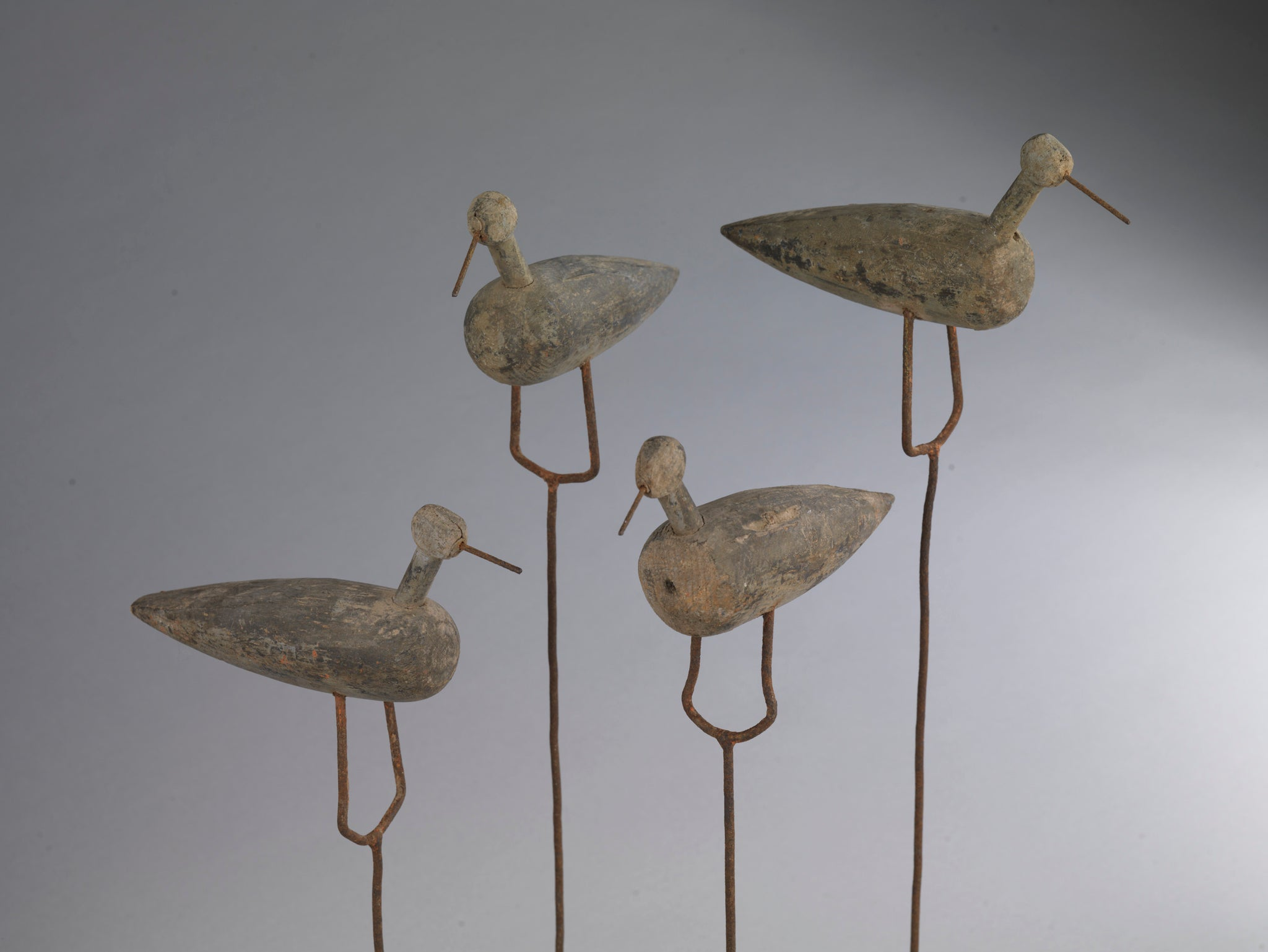 A Group of Four Shorebird Decoys