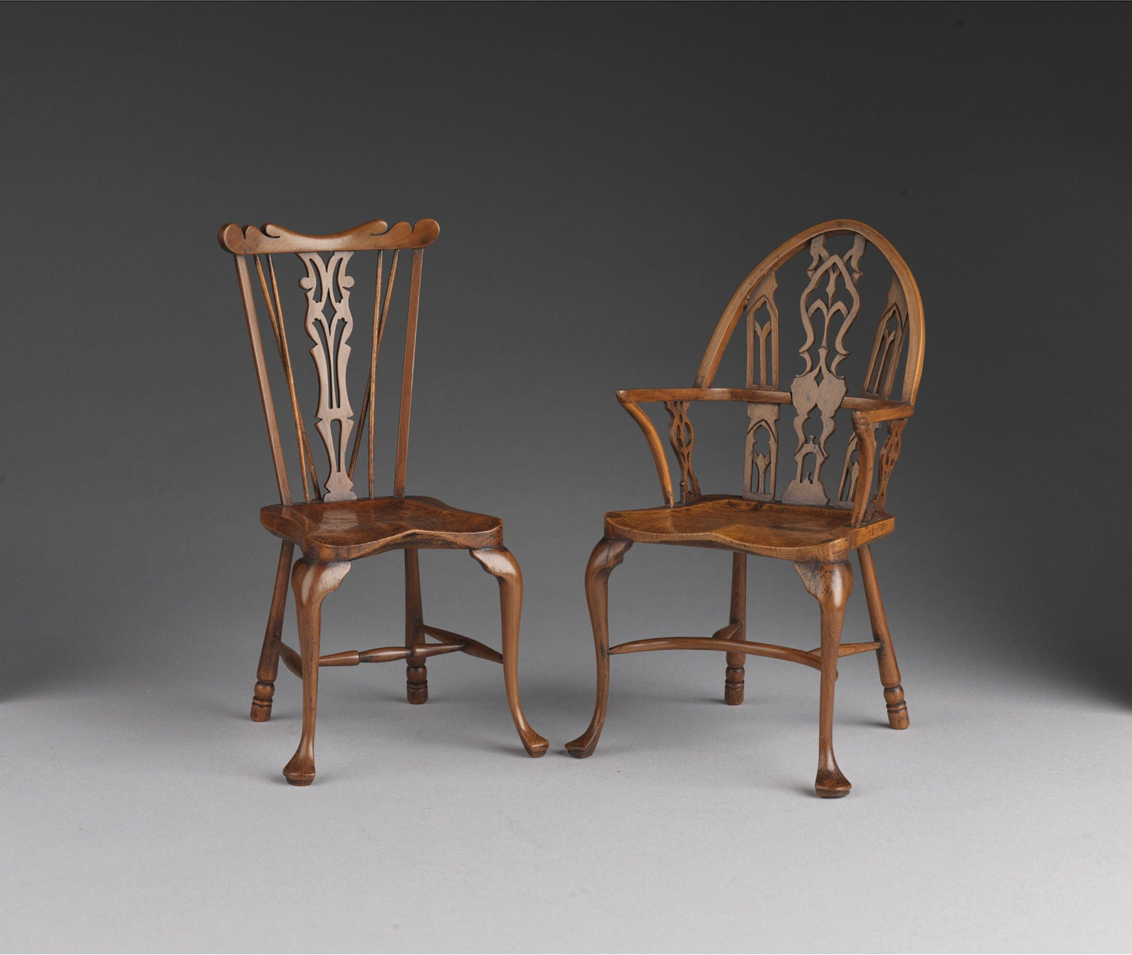 Two Fine Miniature Windsor Armchairs By Stuart King