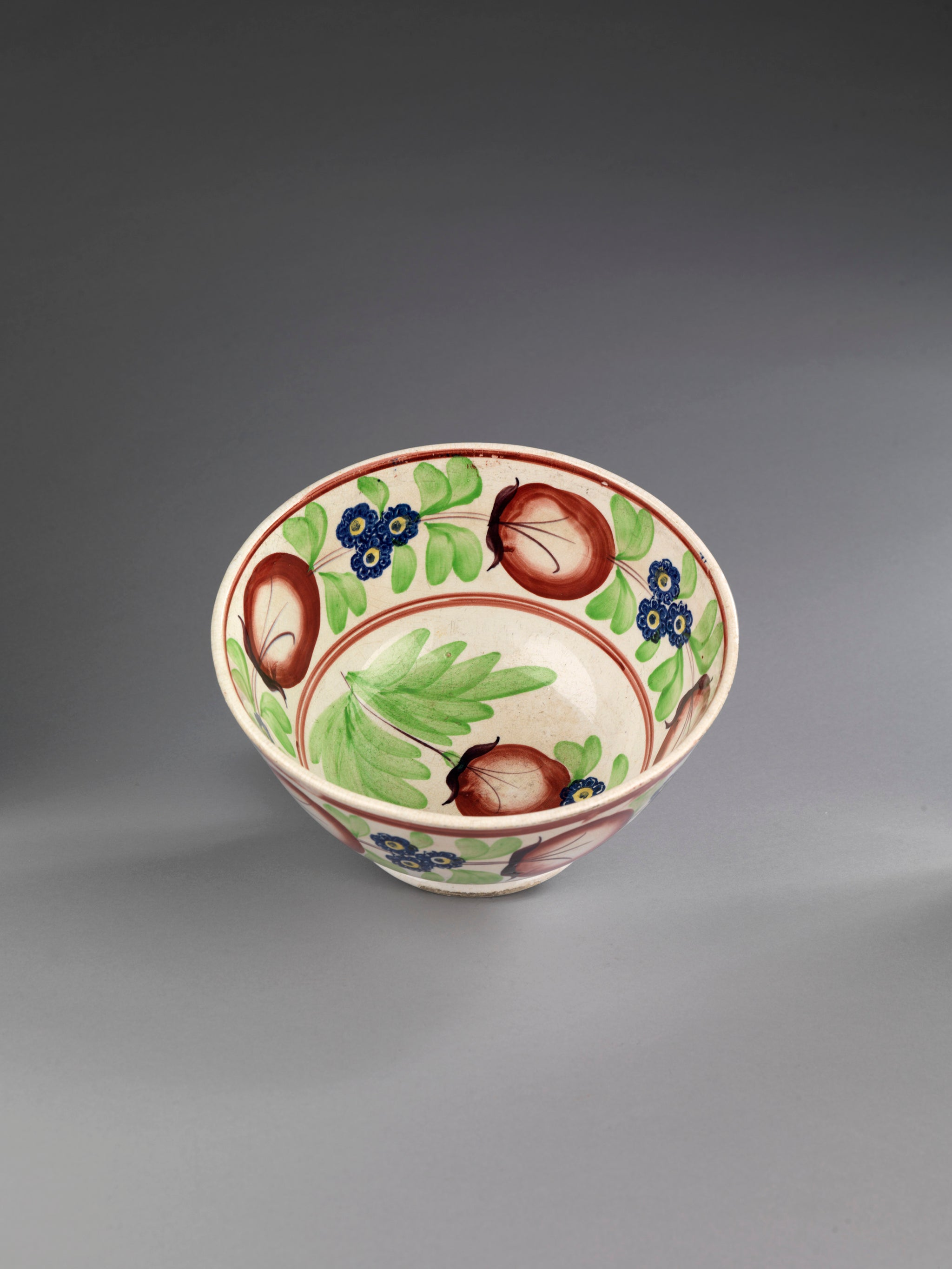 Fine Colourful Pottery Serving Bowl
