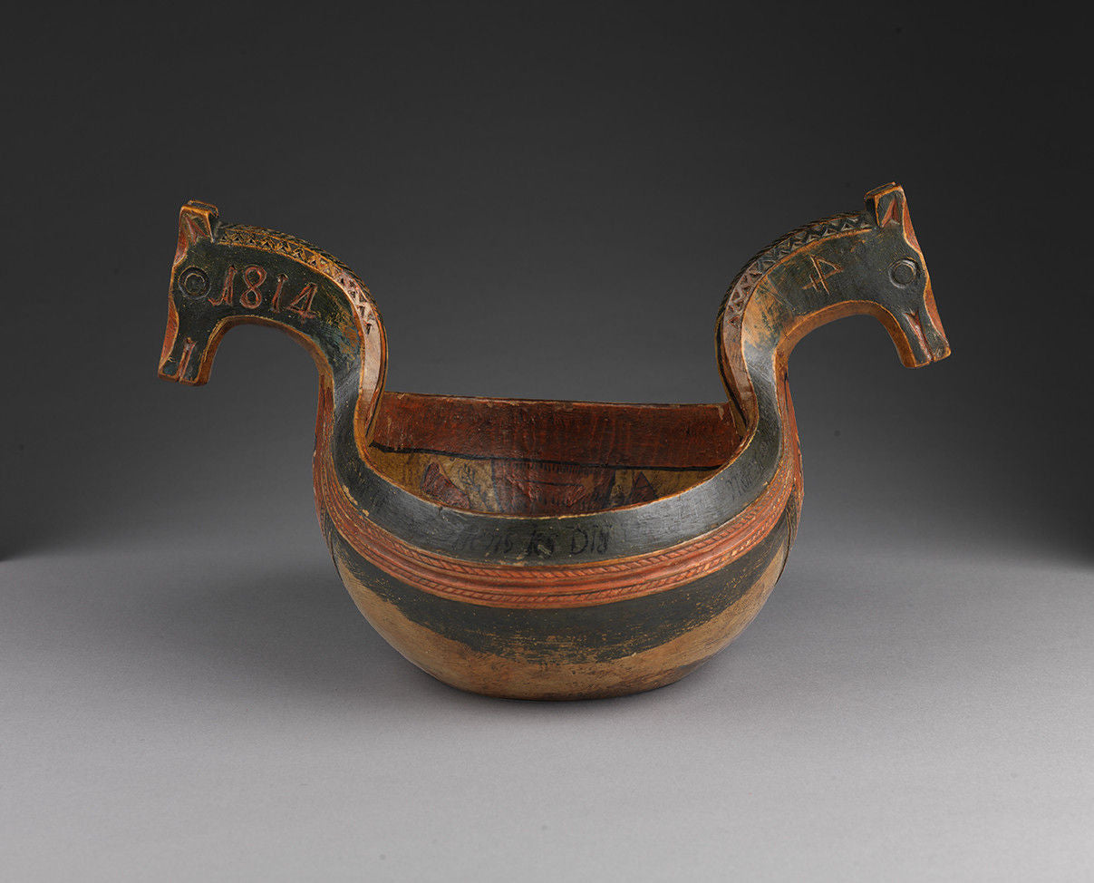 Rare and Impressive Quality Ceremonial Horse Head Kasa
