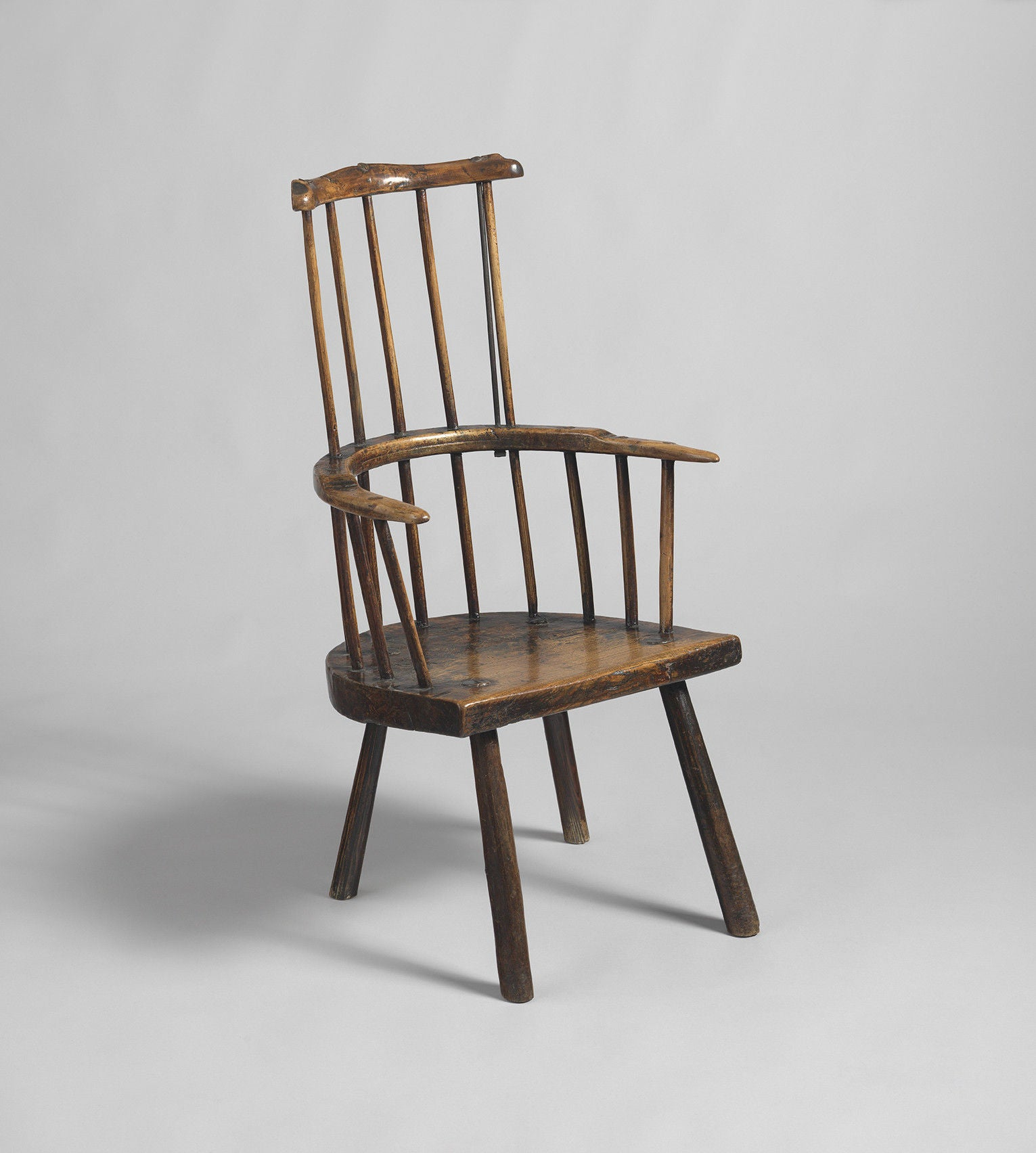 Primitive Windsor Comb Back Armchair