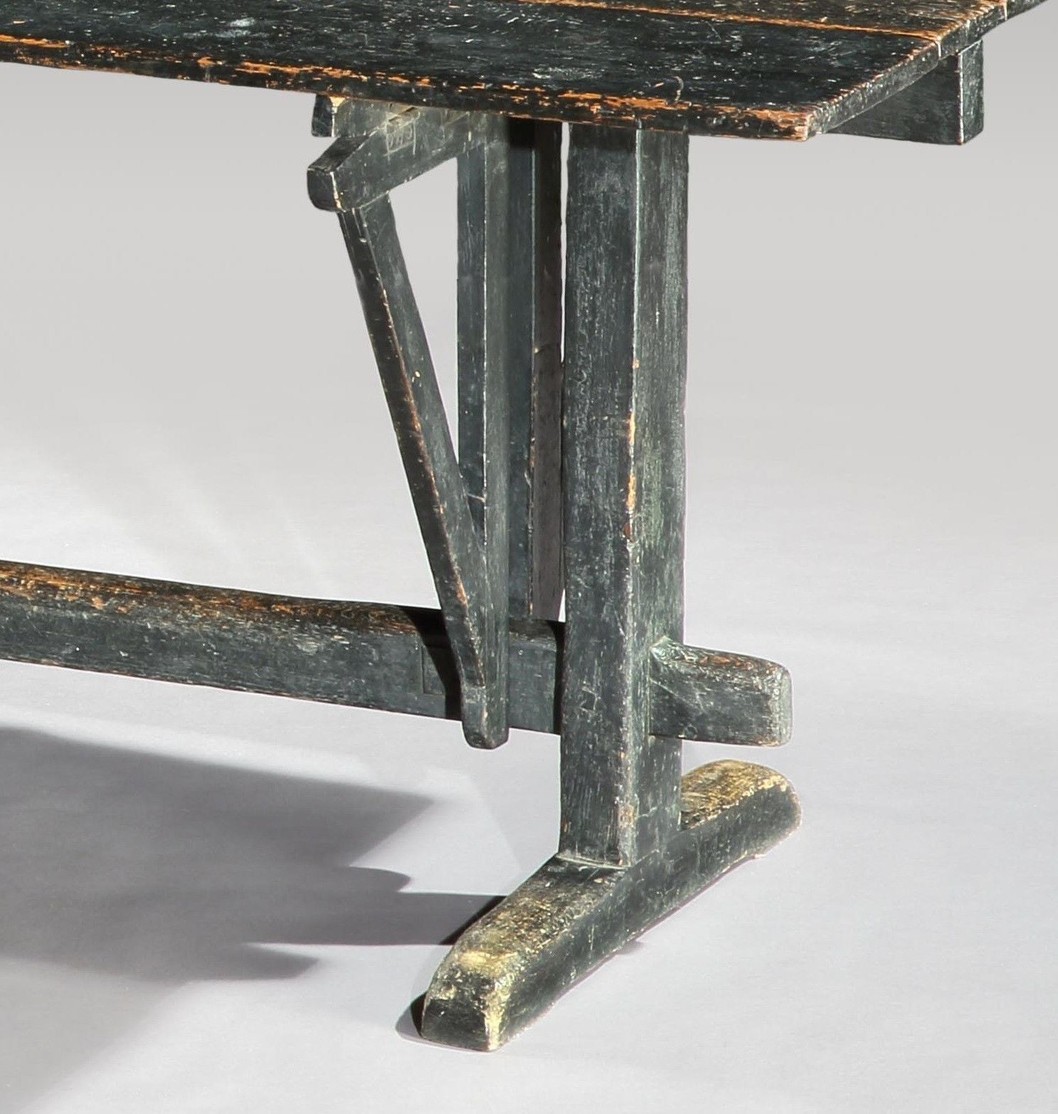 Documentary Graphic Drop Leaf Trestle Desk/Table