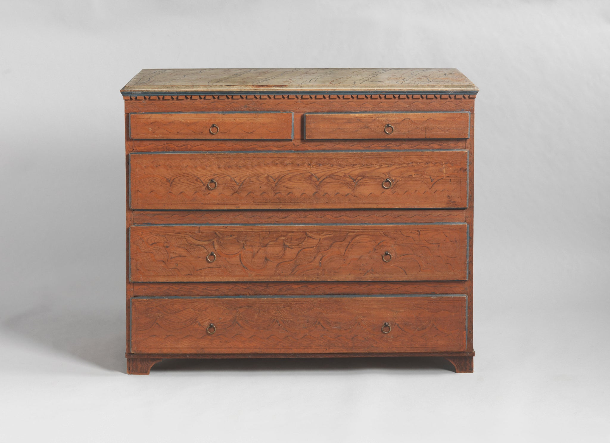 Rare Paint Decorated Chest of Drawers