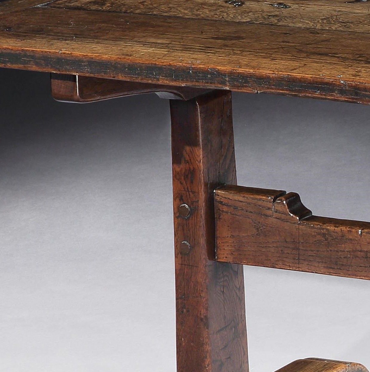 Classic Early Trestle Based Dining Table