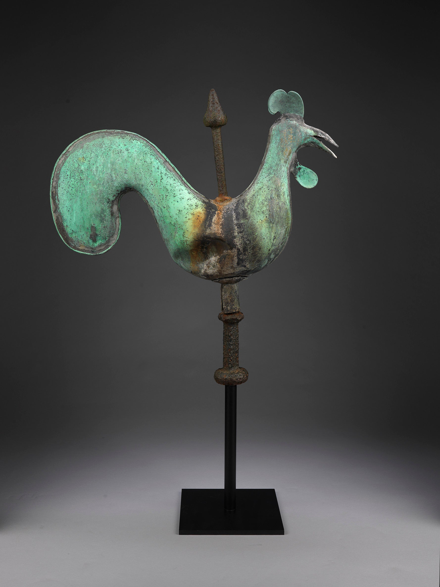 Documentary Stylised Full-Bodied Cockerel Weathervane by A.W.N. Pugin
