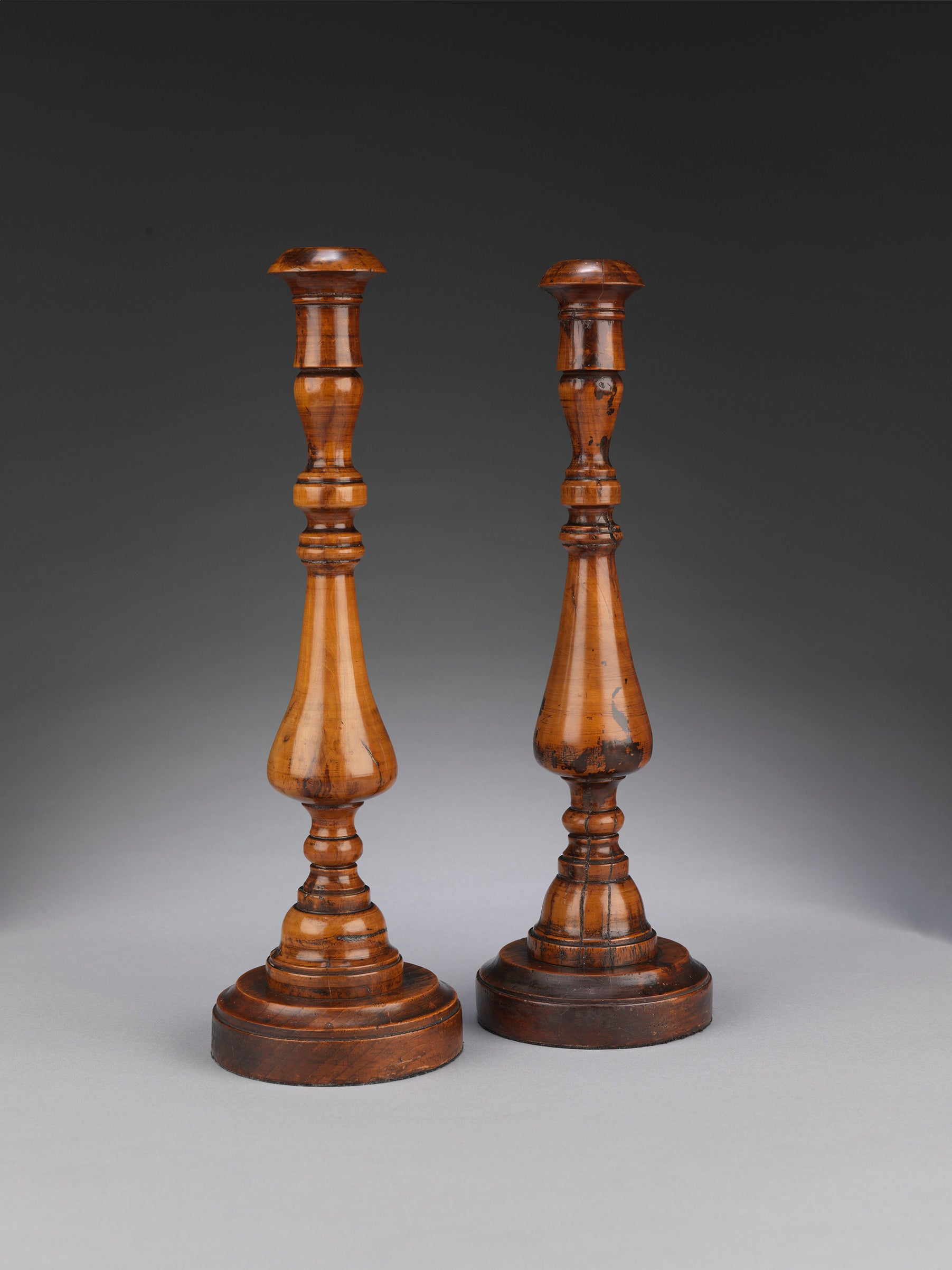 Fine Pair of Early Georgian Table Candlesticks