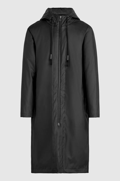 Rubber Raincoat - Black/Black