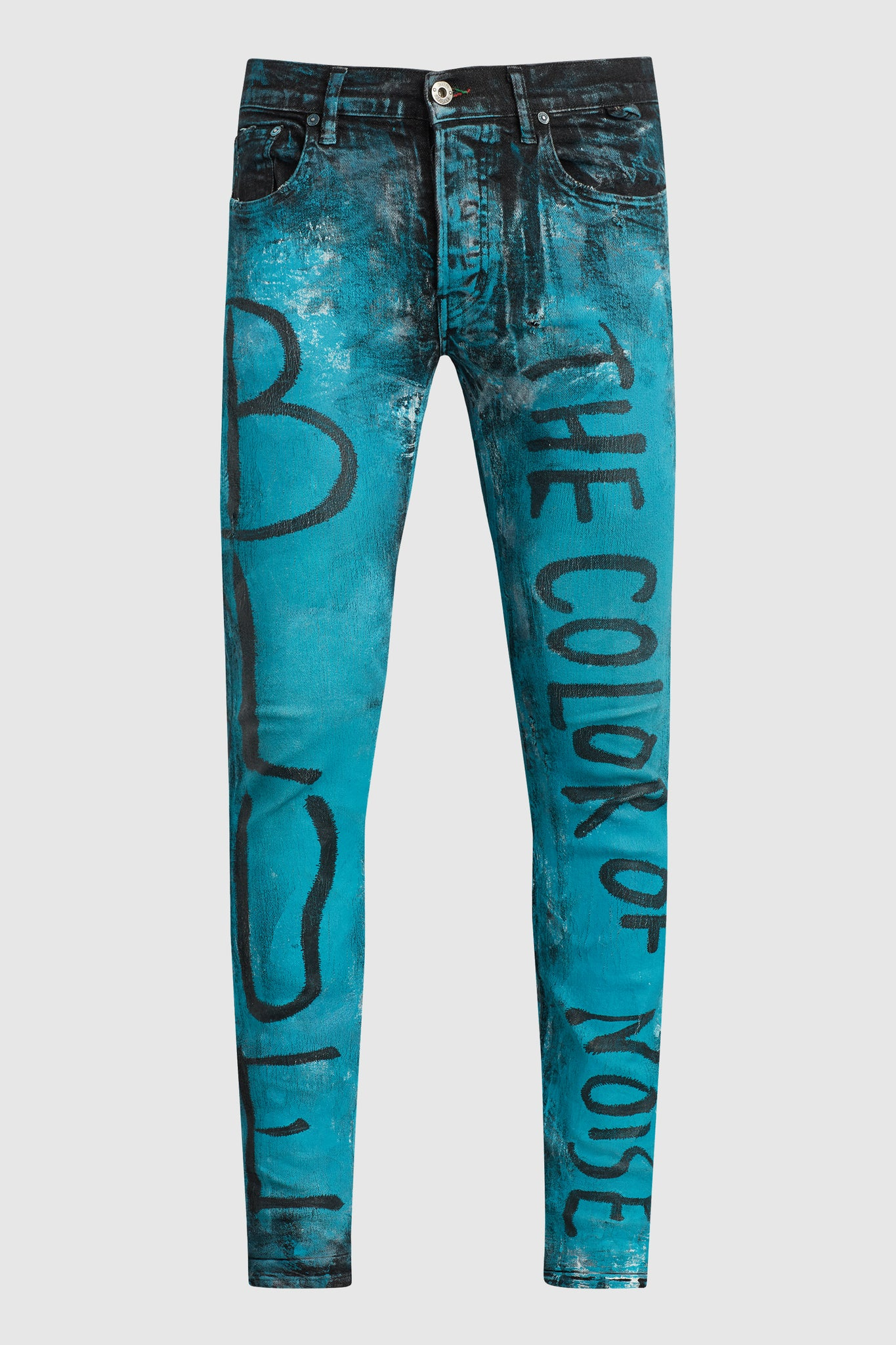 BLUE THE COLOR OF NOISE PAINTED JEANS #198