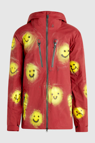 VOLCOM SMILEY PATTERN SNOW JACKET #195