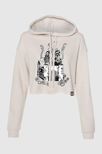 Crash Into Me Women's Cropped Hoodie - Heather Dust