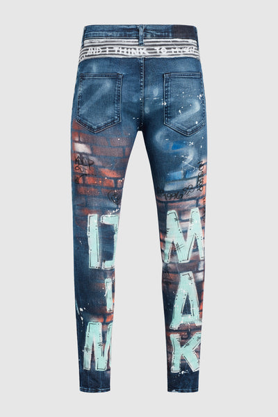 DMMK When I Think To Myself Painted Jeans #50