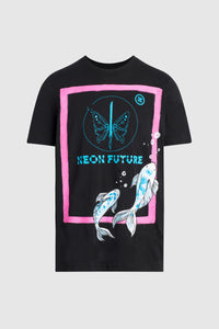NEON FUTURE KOI TSHIRT #140 (custom for Tom Bilyeu)