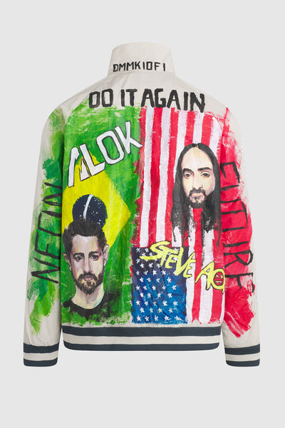 DO IT AGAIN ALOK & STEVE AOKI WINDBRAKER JACKET  #136