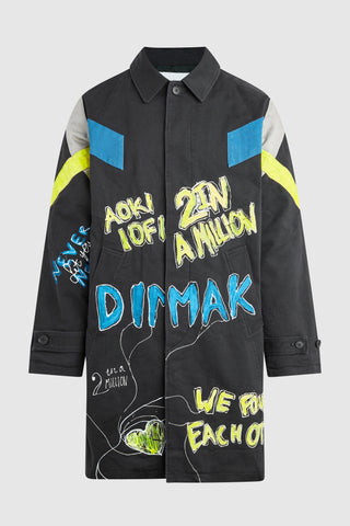 DIM MAK STING 2 IN A MILLION PAINTED OVERCOAT #162 (Custom for Sting)