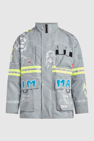 DIM MAK WE FOUND EACH OTHER THROUGH ALL THE MADNESS UTILITY COAT #164 (custom for Shaed)
