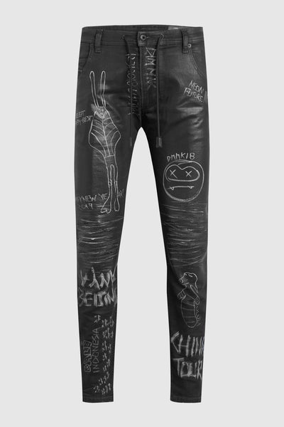 Aoki China/Bali Tour Black Jeans #16